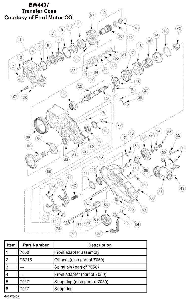 1996 chevy transfer case parts breakdown