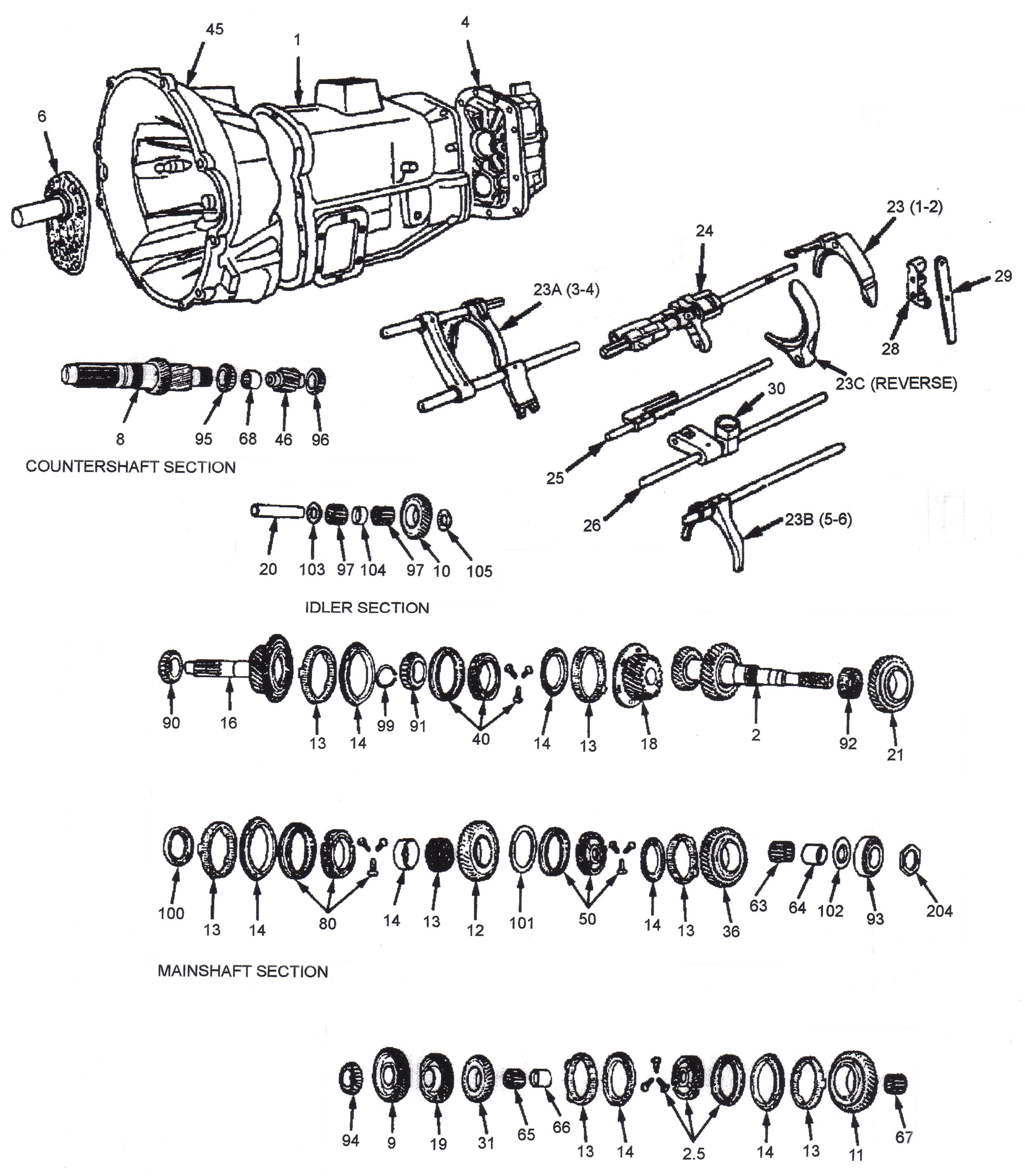 nv5600_parts_ill_lg nv5600 dodge transmission six speed manual transmission rebuild E-TEC L91 Wiring-Diagram at crackthecode.co
