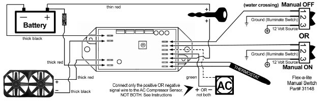 flex a lite black magic wiring diagram flex image installation instructions for monster electric cooling fan on flex a lite black magic wiring diagram