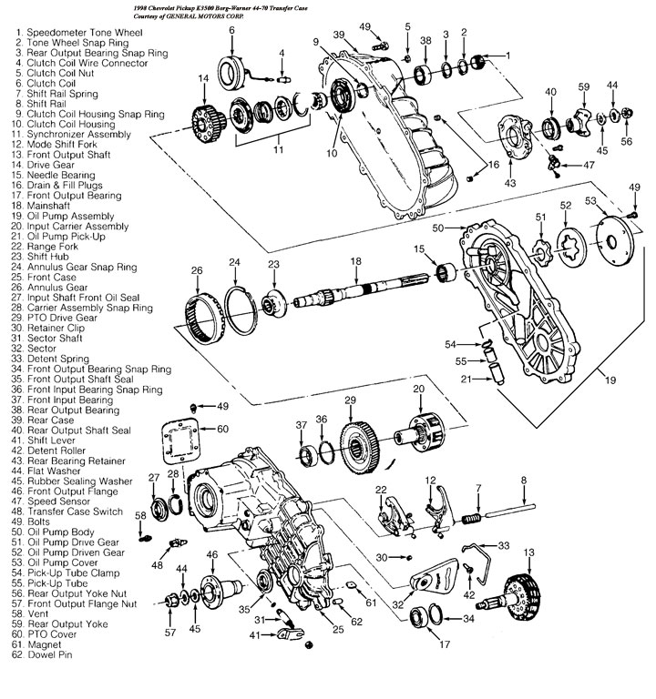 Bw4470 Transfer Case Rebuild Kits And Parts Professional