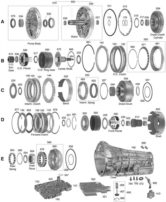 Ford E4od Transmission Valve Body Diagrams on H2 Interior Diagram