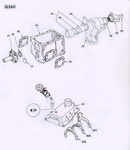 dodge getrag 360 transmission illustrated parts drawings assiting 2005 dodge neon parts diagram dodge transmission parts diagram #5
