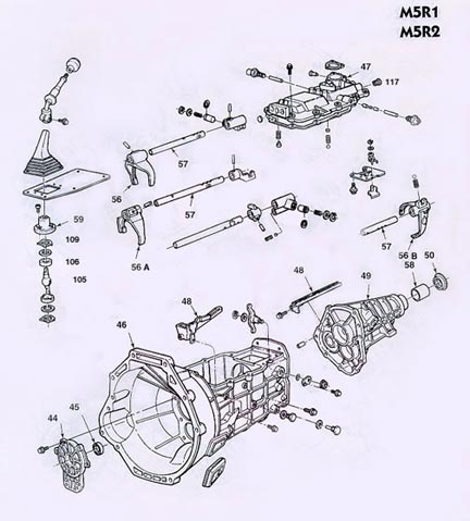 m5r1_p2_large ford m5r1 m5r2 manual transmission illustrated parts drawings get