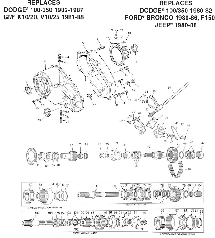 np208mw_large rebuild kits np208 transfer case parts illustration and parts list