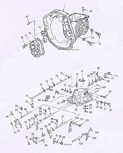 daihatsu rocky transmission illustrated parts drawings rh drivetrain com Transmission Science Diagram Automatic Transmission Parts Diagram