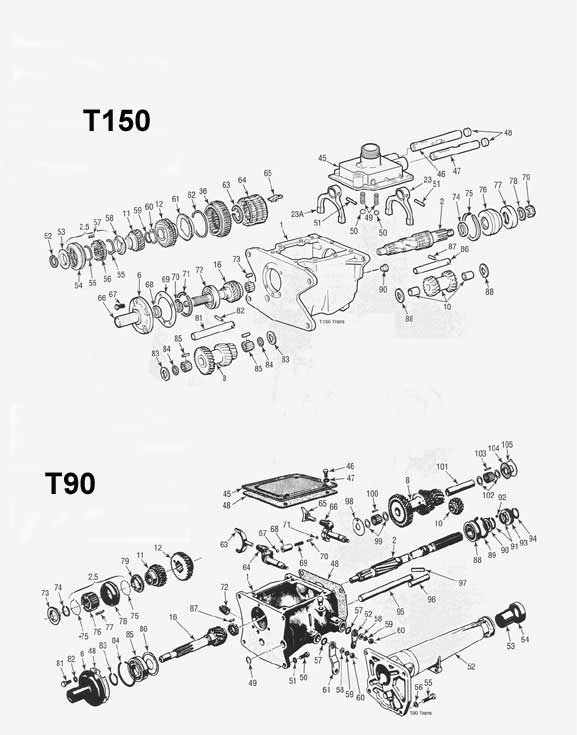 T15 Manual Transmission Parts Rebuild And Overhaul Kits Jeep Ford