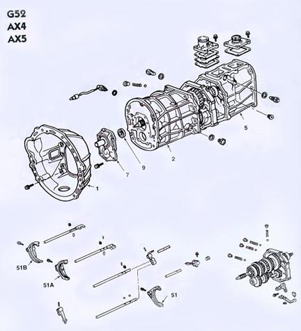toyota g52 transmission illustrated parts drawings assisting you in rh drivetrain com Toyota Camry Automatic Transmission Diagram Toyota Engine Parts Diagram
