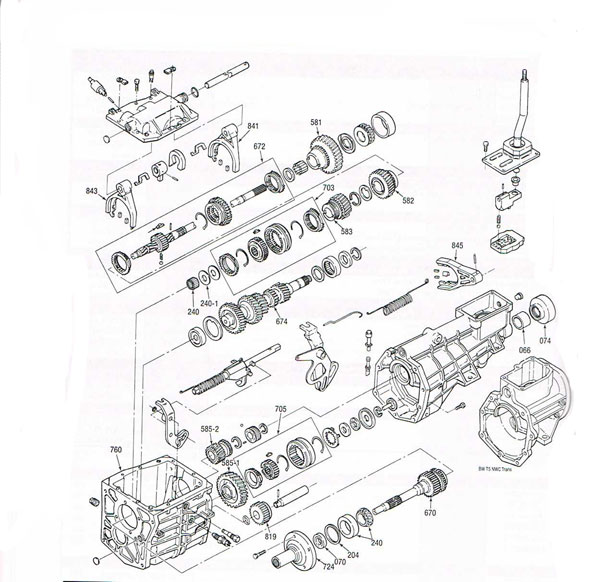 T4 and T5 manual transmission illustrated parts drawings assiting ...