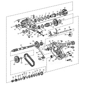 rebuild kit np261 np263 transfer case parts illustration