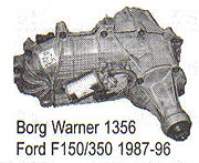 BW1356 Transfer Case Parts