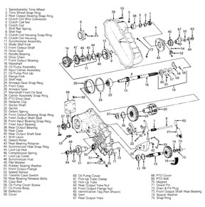BW4401 Transfer Case Parts