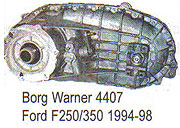 BW4407 Transfer Case Parts