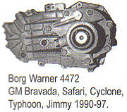 BW4472 Transfer Case Parts