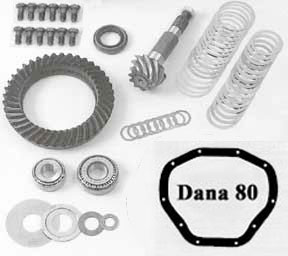 Dana 80 ring pinion kit and differential parts.