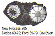 NP205 Transfer Case Parts
