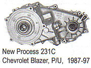 Chevrolet NP231 Transfer Case Parts
