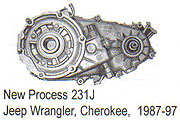 Jeep NP231J Transfer Case Parts
