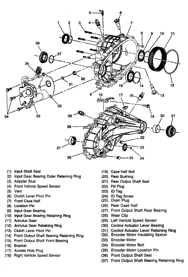 Chevy Silverado Transfer Case Diagram