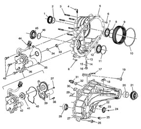 NV263 Transfer Case Parts
