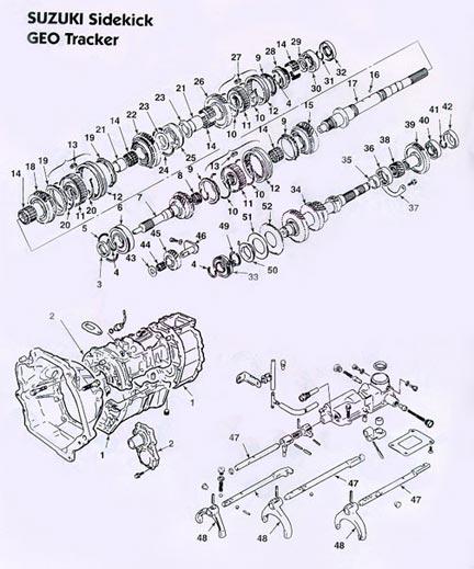 GEO Tracker Suzuki Sidekick manual transmission ...