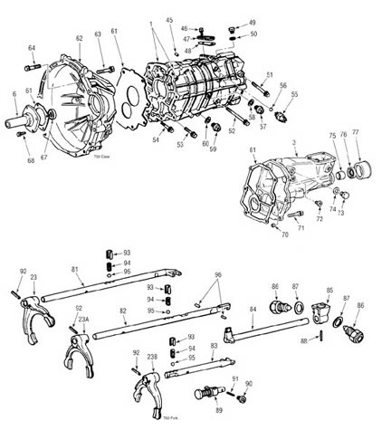 Toyota A340f Transmission Parts Diagram