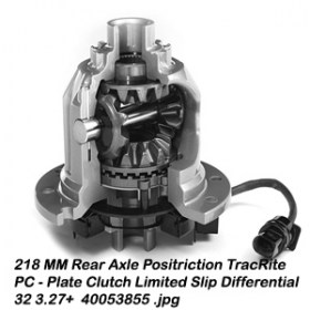 218 MM Rear Axle Positriction TracRite PC - Plate Clutch Limited Slip Differential 32 3.27+  40053855 9