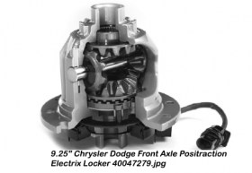 9.25_ Chrysler Dodge Front Axle Positraction Electrix Locker 40047279