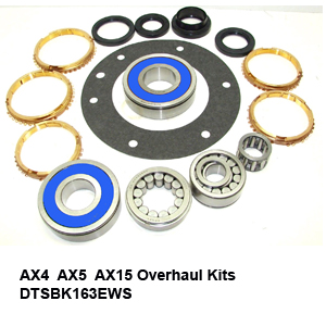 AX4  AX5  AX15 Overhaul Kits DTSBK163EWS