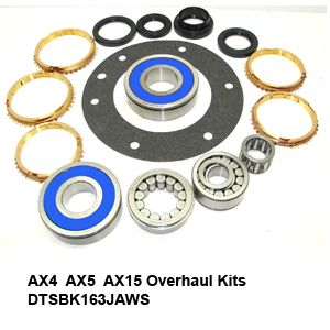 AX4  AX5  AX15 Overhaul Kits DTSBK163JAWS