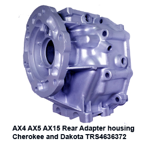 AX4 AX5 AX15 Rear Adapter housing  Cherokee and Dakota TRS4636372