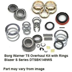 Borg Warner T5 Borg Warner T5 Overhaul Kit with Rings Blazer S Series DTSBK149WS
