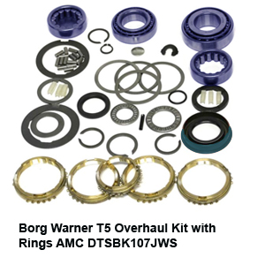 Borg Warner T5 Overhaul Kit with Rings AMC DTSBK107JWS