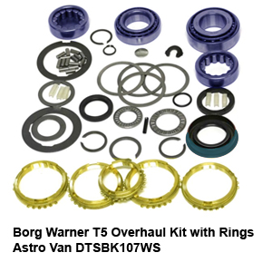 Borg Warner T5 Overhaul Kit with Rings Astro Van DTSBK107WS