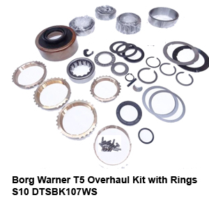 Borg Warner T5 Overhaul Kit with Rings S10 DTSBK107WS3
