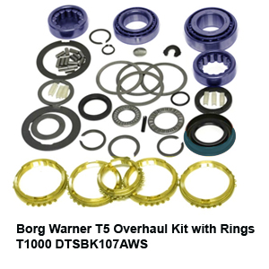 Borg Warner T5 Overhaul Kit with Rings T1000 DTSBK107AWS