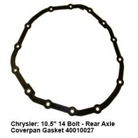 Chrysler- 10.5_ 14 Bolt - Rear Axle Coverpan Gasket 40010027 7
