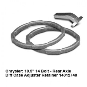 Chrysler- 10.5_ 14 Bolt - Rear Axle Diff Case Adjuster Retainer 14012748 3