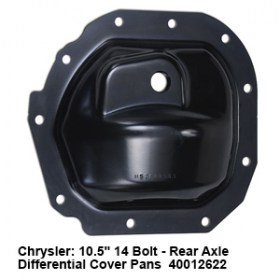 Chrysler- 10.5_ 14 Bolt - Rear Axle Differential Cover Pans  40012622 3