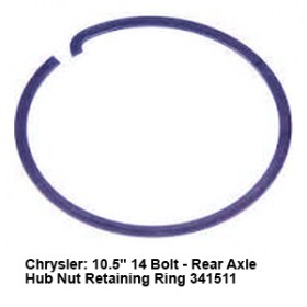 Chrysler- 10.5_ 14 Bolt - Rear Axle Hub Nut Retaining Ring 341511 8
