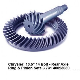 Chrysler- 10.5_ 14 Bolt - Rear Axle Ring _ Pinion Sets 3.731 40023039 5