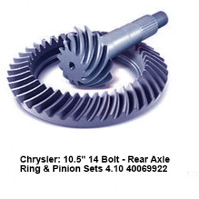 Chrysler- 10.5_ 14 Bolt - Rear Axle Ring _ Pinion Sets 4.10 40069922 9