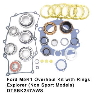 Ford M5R1 Overhaul Kit with Rings Explorer (Non Sport Models) DTSBK247AWS