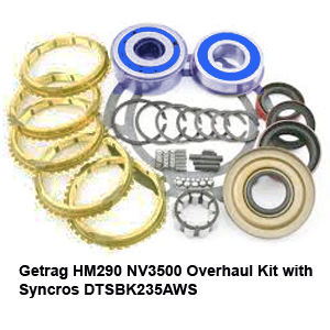 Getrag HM290 NV3500 Overhaul Kit with Syncros DTSBK235AWS68