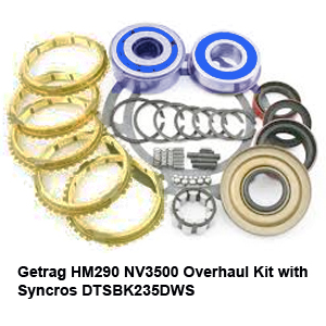 Getrag HM290 NV3500 Overhaul Kit with Syncros DTSBK235DWS71