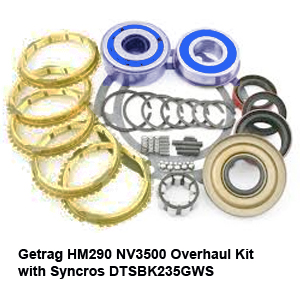 Getrag HM290 NV3500 Overhaul Kit with Syncros DTSBK235GWS3