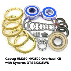 Getrag HM290 NV3500 Overhaul Kit with Syncros DTSBK235WS22