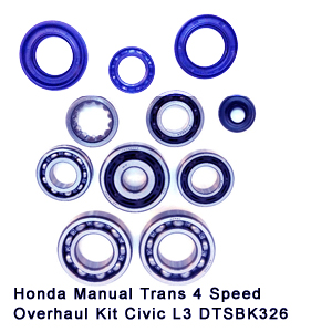 Honda Manual Trans 4 Speed Overhaul Kit Civic L3 DTSBK326