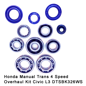 Honda Manual Trans 4 Speed Overhaul Kit Civic L3 DTSBK326WS