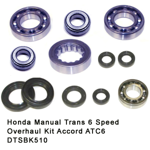 Honda Manual Trans 6 Speed Overhaul Kit Accord ATC6 DTSBK510