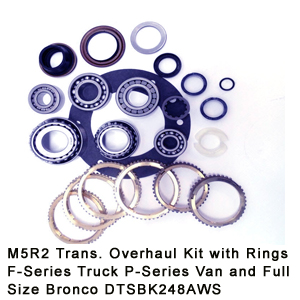 M5R2 Trans. Overhaul Kit with Rings F-Series Truck P-Series Van and Full Size Bronco DTSBK248AWS8